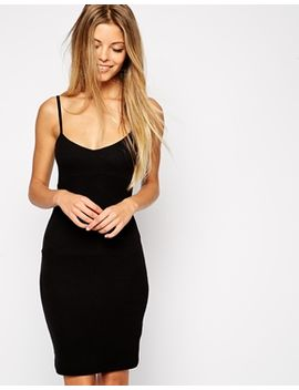 asos-mini-cami-body-conscious-dress-in-rib by asos-collection
