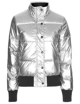 silver-jodie-bomber-by-puffa by topshop
