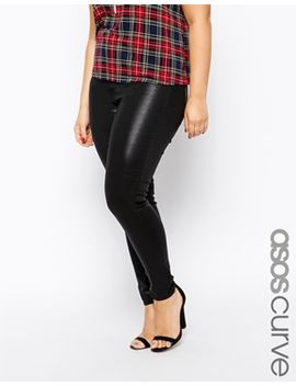 asos-curve-ridley-skinny-jean-in-coated-denim by asos-curve