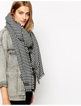 maison-scotch-houndstooth-scarf by asos