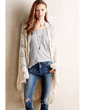 handknit-josee-duster by anthropologie