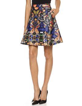 nyla-center-pleat-skirt by alice-+-olivia