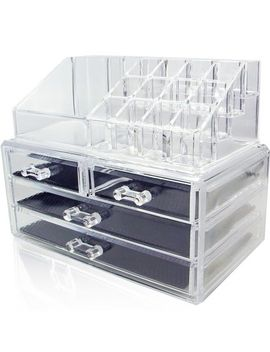 ikee-design-acrylic-jewelry-&-cosmetic-storage-display-boxes-two-pieces-set by ikee-design