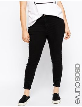 asos-curve-lisbon-mid-rise-skinny-jean-in-clean-black by asos-curve