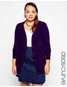 asos-curve-exclusive-cardigan-in-texture by asos-curve