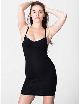 cotton-spandex-jersey-underwire-bustier-dress by american-apparel