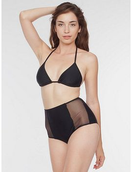 mesh-side-high-waist-bikini-bottom by american-apparel