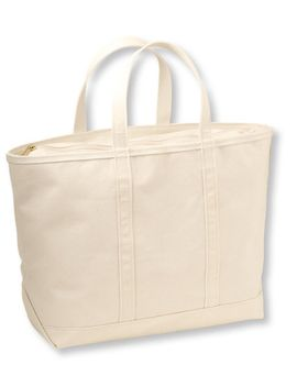 solid-color-boat-and-tote,-zip-top by llbean