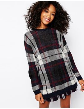 monki-oversized-check-sweater by monki