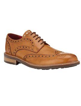 john-lewis-&-co-durham-leather-brogue-shoes,-light-tan by john-lewis-&-co