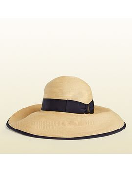 natural-straw-wide-brimmed-hat by gucci