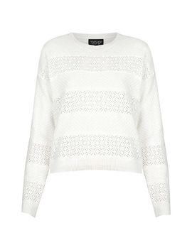 lace-stripe-sweater by topshop