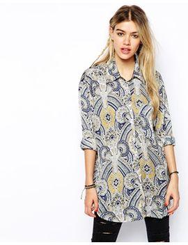 glamorous-oversize-shirt-in-tile-print by glamorous