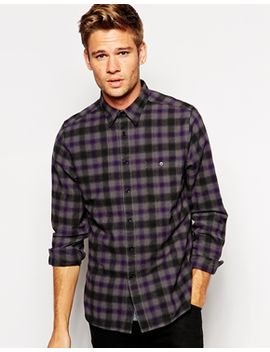 asos-shirt-in-long-sleeve-with-mini-check by asos