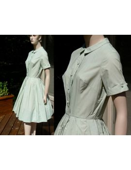 vintage-pale-mint-green-dress,-full-cupcake-dress-from-hong-kong,-medium by sparcle