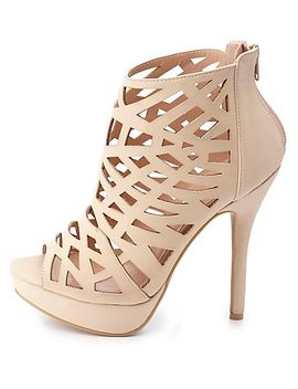 laser-cut-out-peep-toe-booties by charlotte-russe