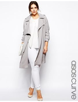 asos-curve-trench-with-zip-detail by asos-curve