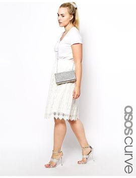 asos-curve-exclusive-midi-skirt-in-scallop-hem-lace by asos-curve