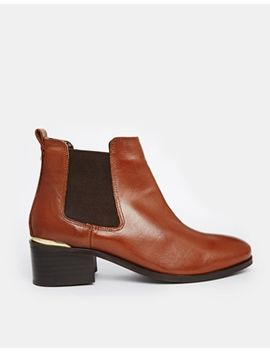 carvela-toby-tan-leather-chelsea-boots-with-metal-heel-trim by carvela