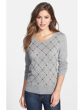 argyle-studded-cashmere-sweater by halogen®