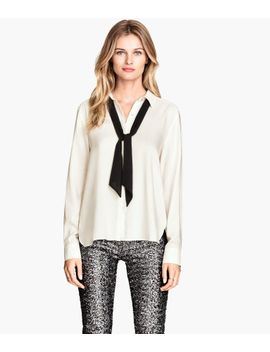 blouse-with-bow by h&m