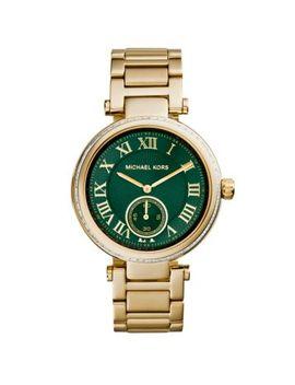 skylar-green-and-gold-tone-bracelet-watch by michael-kors