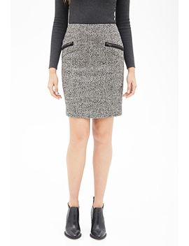 zippered-tweed-pencil-skirt by forever-21