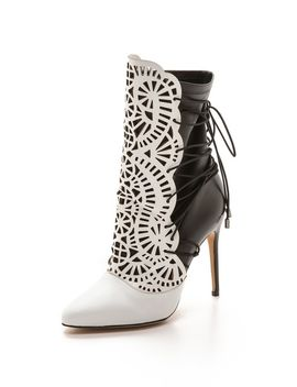 cutout-lace-up-booties by alexandre-birman