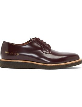 burgundy-crepe-sole-derbys by common-projects