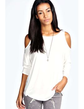 charlotte-cut-out-shoulder-top by boohoo
