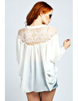 gemma-crochet-back-detail-shirt by boohoo