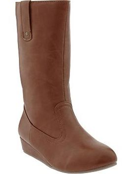 girls-faux-leather-wedge-boots by old-navy