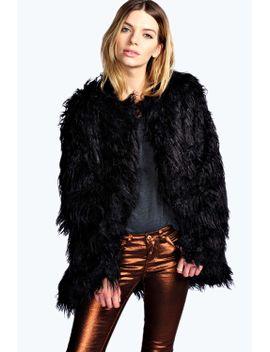 darla-shaggy-faux-fur-coat by boohoo