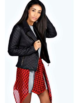 carla-quilted-faux-leather-biker-jacket by boohoo
