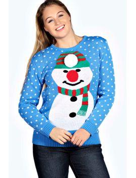 mariah-snowman-pom-pom-jumper by boohoo