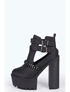libby-chain-trim-cut-work-platform-boots by boohoo