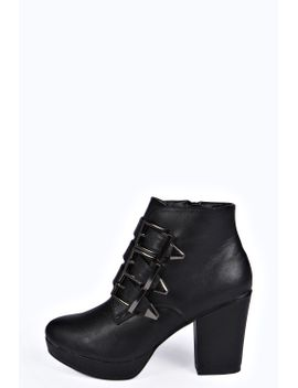 sienna-multi-buckle-boot by boohoo
