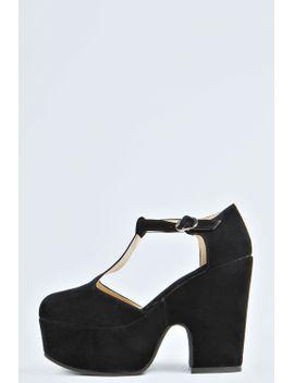 gracey-t-bar-chunky-heels by boohoo