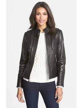 quilt-detail-leather-jacket by michael-michael-kors