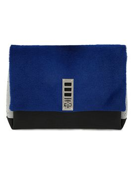 elliot-pony-hair-and-leather-clutch by proenza-schouler