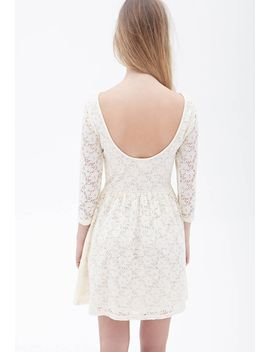 floral-crochet-fit-&-flare-dress by forever-21