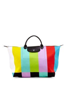 le-pliage-color-bar-canvas-travel-bag by longchamp