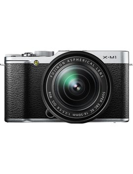fujifilm-x-m1-compact-system-16mp-digital-camera-kit-with-16-50mm-lens-and-3-inch-lcd-screen-(silver) by fujifilm