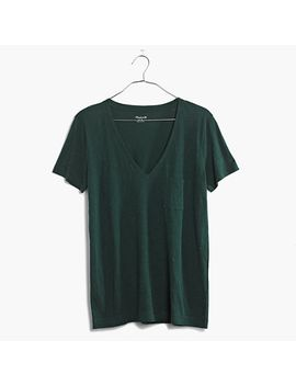 whisper-cotton-v-neck-pocket-tee by madewell