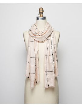 sequin-plaid-scarf by ann-taylor