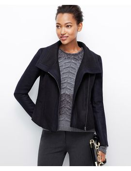 felted-wool-moto-jacket by ann-taylor