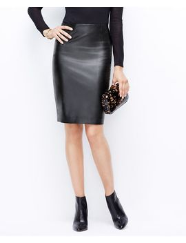 faux-leather-pencil-skirt by ann-taylor