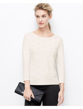 beaded-crepe-top by ann-taylor