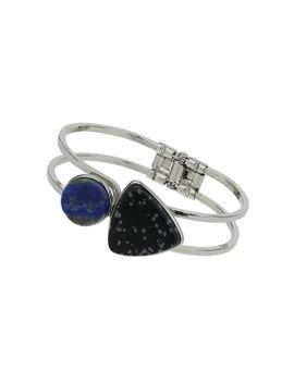 premium-semi-precious-stone-clamp-bracelet by topshop