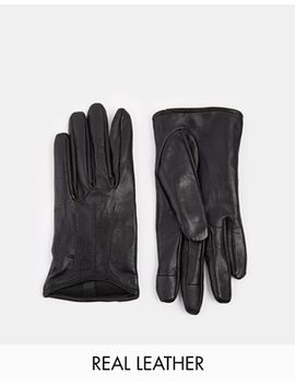 asos-leather-gloves-with-touch-screen-detail by asos-collection